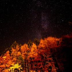 Duitse Alpen bij Heldere Nacht