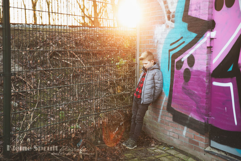 Graffiti golden hour -