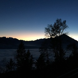Swiss sunset