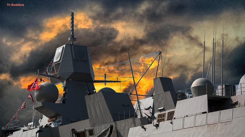 sinister 1508203662mnlw - Nederlands marine schip in door mij gecreerde situatie zie originele foto dagen terug