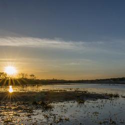 zonsondergang bij een meertje