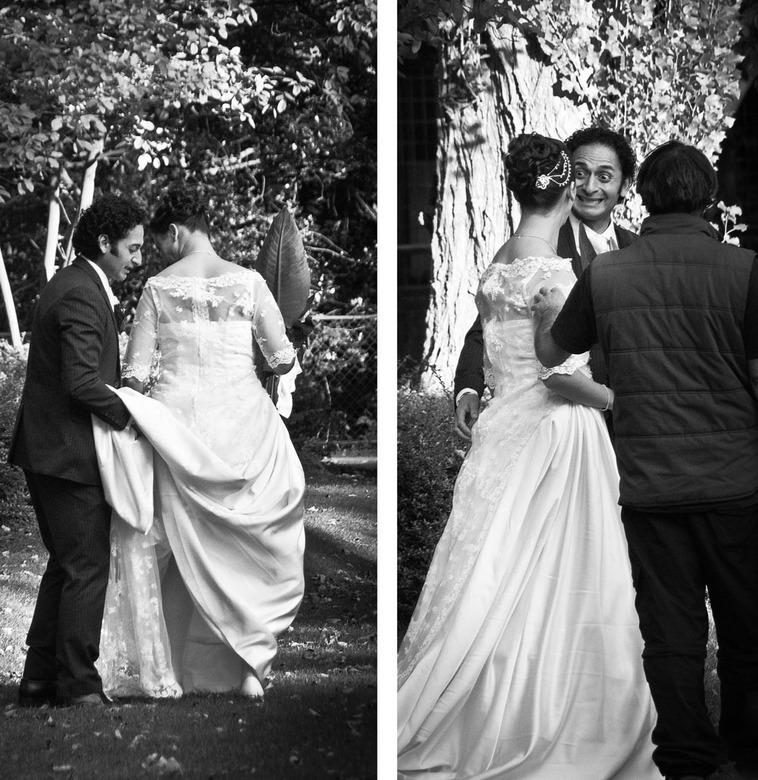 leuke bruidegom??? - ik was blij voor de bruid dat de fotograaf niet net als ik achter haar liep, want dan hadden deze foto's misschien wel in ha