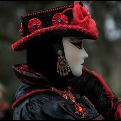 Maskers in Brugge.