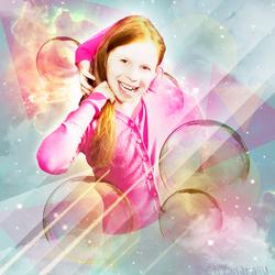Bewerking: Cosmos Bubble Girl