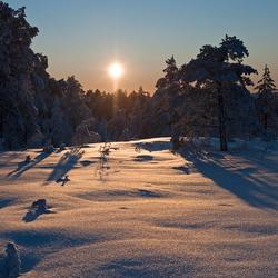 Zweedse zonsondergang