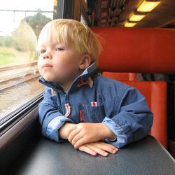 Voor het eerst met de trein..