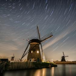 Star trail Kinderdijk