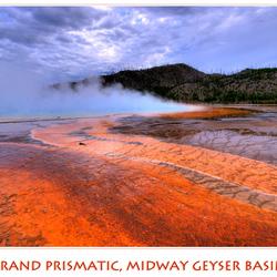 Midway Geyser basin, grand prismatic