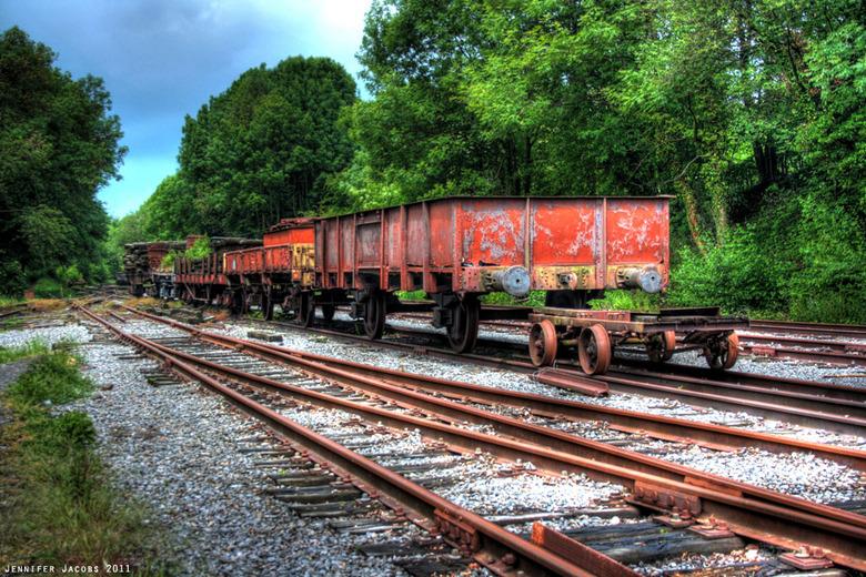 Kleurrijk - Oud trein depot