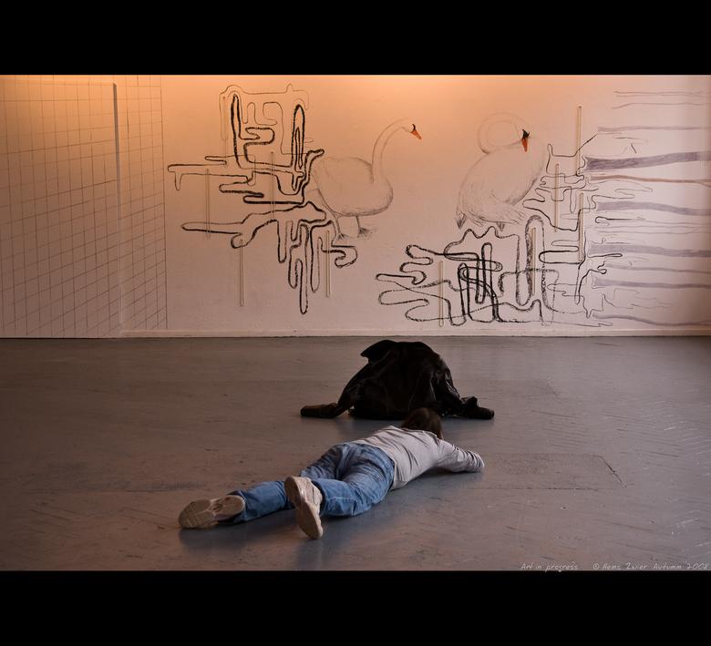 """Art in progress - Geen idee wie het is, maar zag um bij Chantal ook al voorbij schuiven<img  src=""""/images/smileys/wilt.png""""/> Deventer serie.<br /> <"""