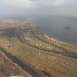 Uitzicht vanuit de Cessna