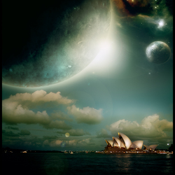 Opera house on a different planet