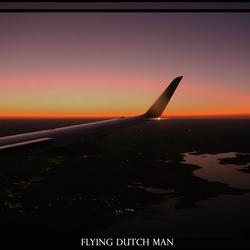vogelvlucht tijdens zonsondergang