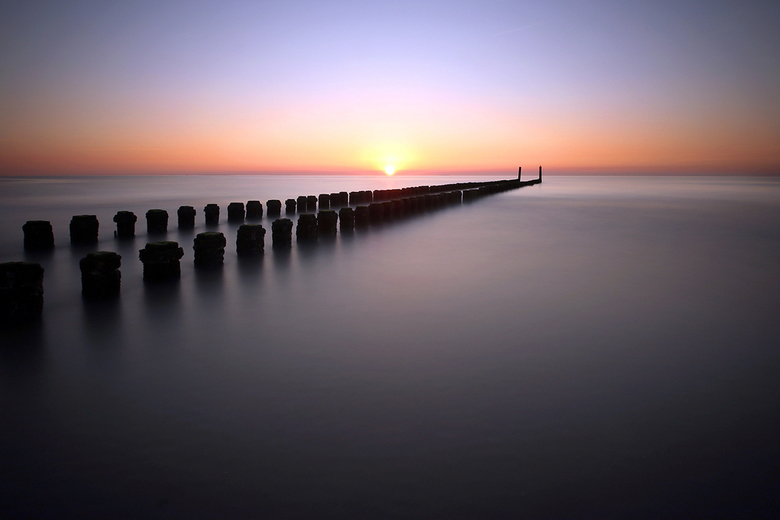 Sunset at Domburg beach - Zonsondergang aan het strand van Domburg