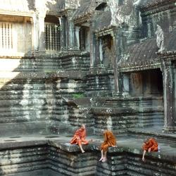Monniken in Angkor Wat