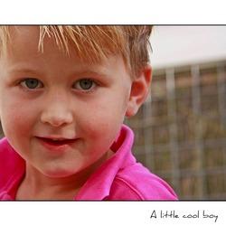 A little cool boy