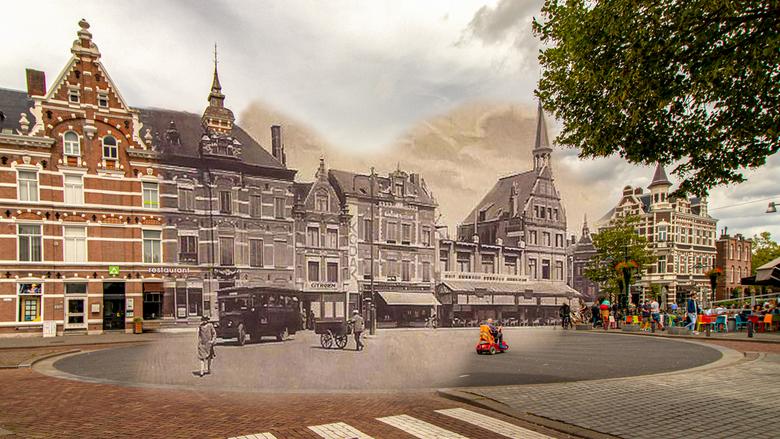 Breda - van Coothplein 1929-2019 - Van de week mijn oud en nieuw projectje weer eens opgepakt, had weer wat oude foto's gevonden...ditmaal uit 19