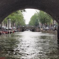 De Amsterdamse gracht met bruggen