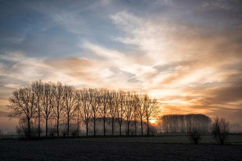 rdepomp050 - zonsopgang nr2 aan de Stekense Vaart, Belgie