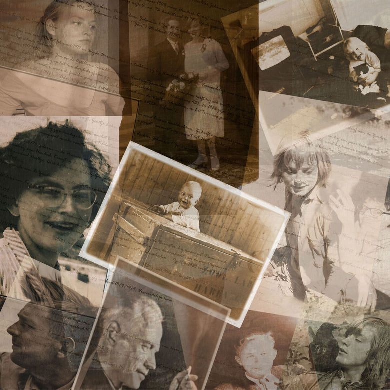 Familiekiekjes - Laatst eens in de oude doos gedoken en wat oude kiekjes gescand. Kerst is familiefeest bij uitstek, daarom vandaag een collage van vi