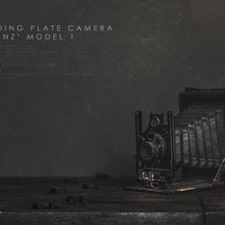 Folding plate camera