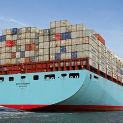 Edith Maersk op Vlissingen Rede