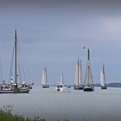 Van uit Den Oever het IJsselmeer op