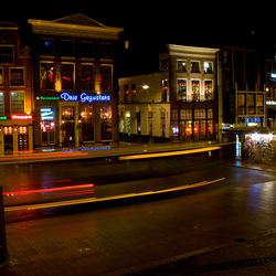 Bus by night