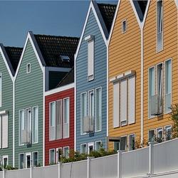 Houten huisjes in Houten.