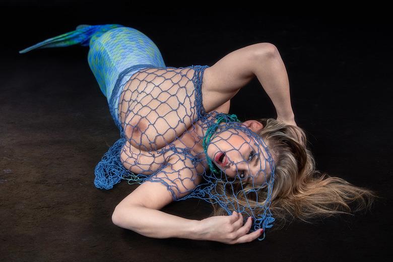 Mermaid In Trouble - model is Katarina Hartlova