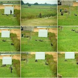 Gevechtsacties van de reenactors Duitse Soldaten.