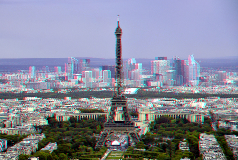 View from Tour Montparnasse Paris 3D - View from Tour Montparnasse Paris 3D<br /> cha-cha<br /> anaglyph stereo
