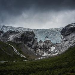Bergsetbreen gletsjer Noorwegen