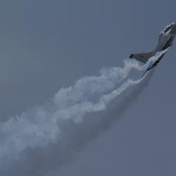 Vliegtuig tijdens de vliegshow