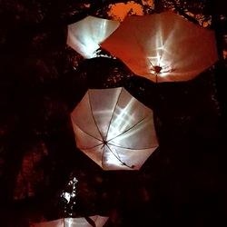 Paraplue bij nacht