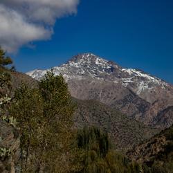 De eeuwige sneeuw in het Atlas gebergte