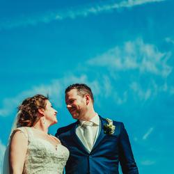 Liefde en blauwe lucht