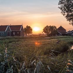 Zaanse Schans bij zonsopgang