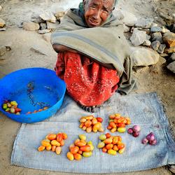 Marktkoopvrouw in Ethiopië