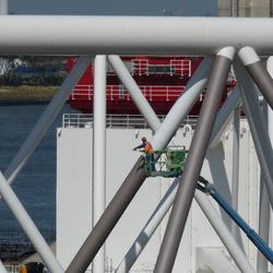 P1450796 Schilder onderhoud  Maeslandkering   27 juni 2017