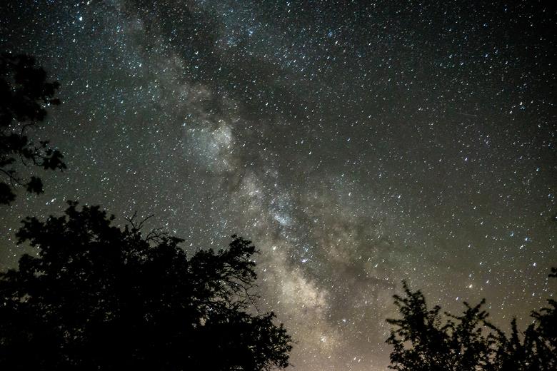 Melkweg - De Melkweg, gefotografeerd vanuit de Franse Alpen.