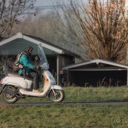 Driving through the farm landscape