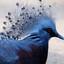 blauwe hoen