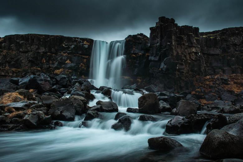 Oxararfoss long exposure - Lange sluitertijd opname van een van de mooiste watervallen van IJsland: Oxararfoss.