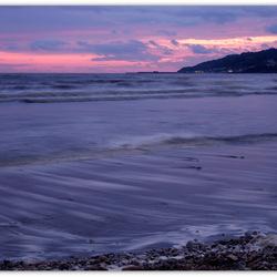 Sunset. Jurassic coast