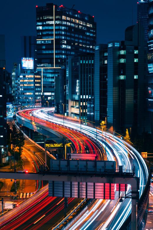 Tokyo Highway - Uitzicht op een snelweg in Shibuya, Tokyo.