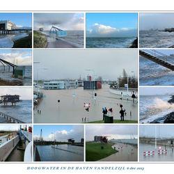 Hoogwater. in de haven van Delfzijl 6 dec 2013