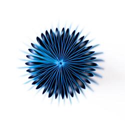 Vouwen in het blauw