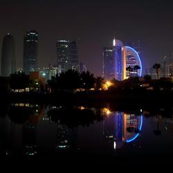 reflectie van gebouwen