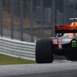 De achterkant van een F1